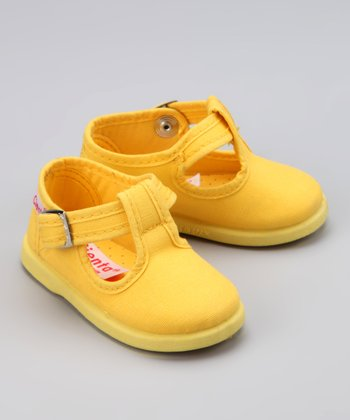 Yellow T-Strap Shoe