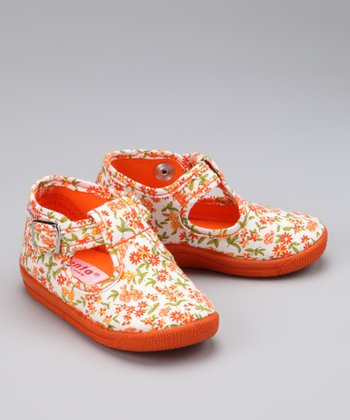 Orange Blossom T-Strap Shoe