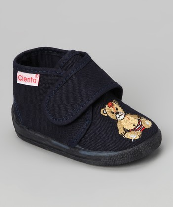 Navy Bear Bootie