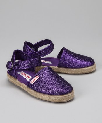 Purple Ankle-Strap Flat