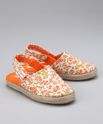 Orange Blossom Ankle-Strap Flat