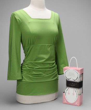 Green Blissful Postpartum Shirt & Nude Cinch Couture
