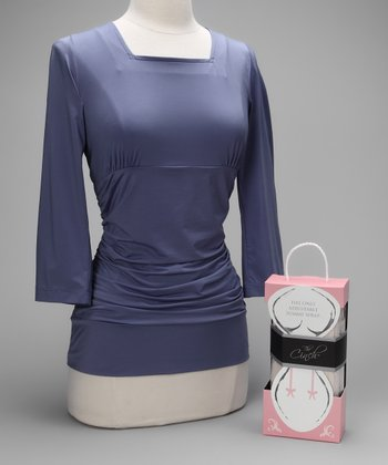 Lavender Blissful Postpartum Shirt & Nude Cinch Couture