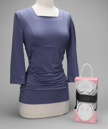Lavender Blissful Postpartum Shirt & Cool Gray Signature Cinch