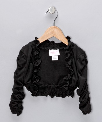 Black Ruffle Bolero - Toddler & Girls