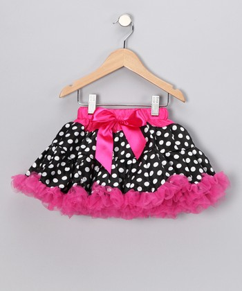 Fuchsia Polka Dot Pettiskirt - Toddler & Girls