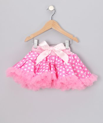 Pink Polka Dot Pettiskirt - Toddler & Girls