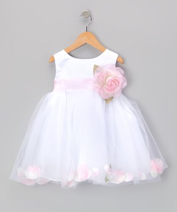 Pink Rose Petal Bubble Dress - Infant