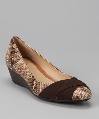 Light Natural & Dark Brown Ymilia Flat