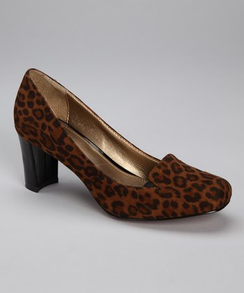 Brown Leopard Voyeur Pump