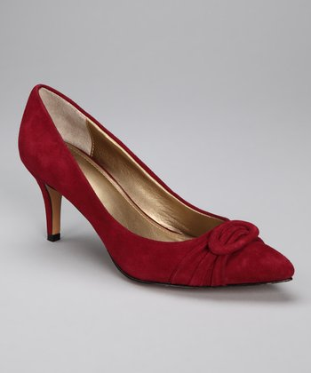Dark Red Suede Atlee Pump