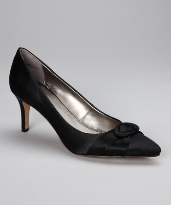 Black Satin Atlee Pump