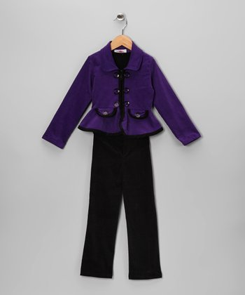 Purple Corduroy Jacket Set - Toddler & Girls