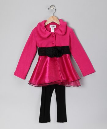 Fuchsia Fleece Jacket & Pants - Toddler & Girls