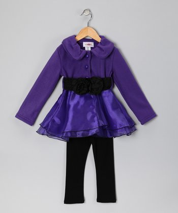 Purple Fleece Jacket & Pants - Toddler & Girls