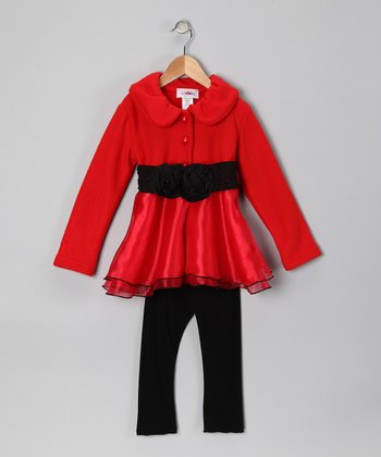 Red Fleece Jacket & Pants - Toddler & Girls