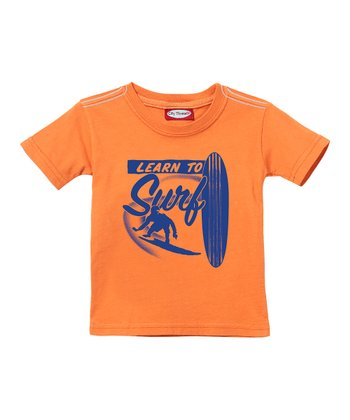 Faded Orange 'Learn to Surf' Tee - Infant, Toddler & Boys