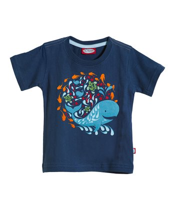 Midnight Blue Trippy Whale Tee - Infant