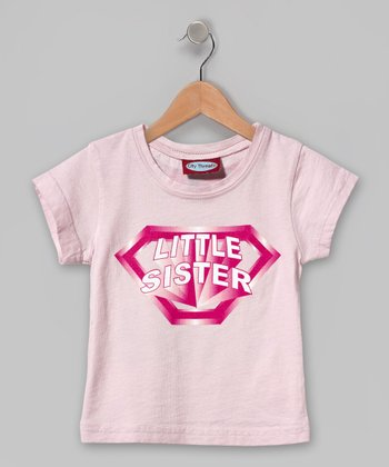 Pink 'Little Sister' Cape Tee - Infant