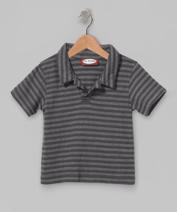 Charcoal Stripe Polo - Infant, Toddler & Boys