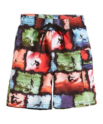 Black Surf Swim Trunks - Infant, Toddler & Boys