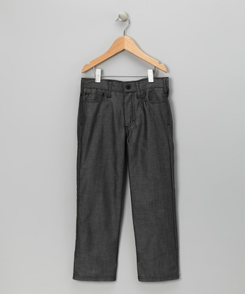 Black Logan Five-Pocket Denim Pants - Boys