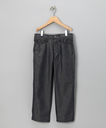Indigo Logan Five-Pocket Denim Pants