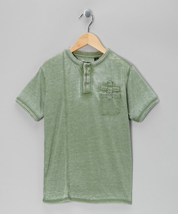 Green Rast Safari Henley