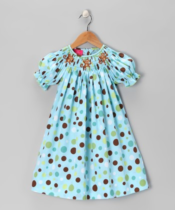 Blue Monkey Bishop Dress - Infant, Toddler & Girls