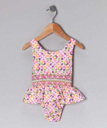 Pink & Green Floral Sunsuit - Infant & Toddler