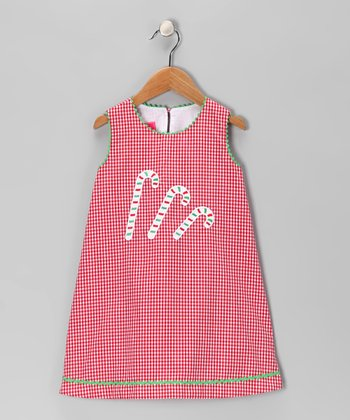 Red Candy Cane Swing Dress - Infant & Girls