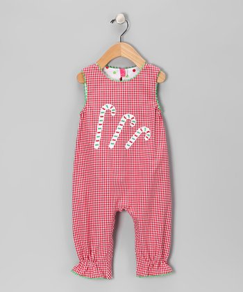 Red Candy Cane Playsuit - Infant & Toddler