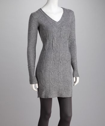 Heather Gray V-Neck Tunic