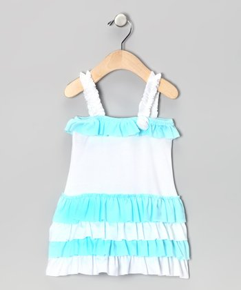 Aqua Ruffle Cassandra Dress - Infant, Toddler & Girls