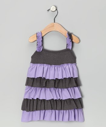 Purple Ruffle Nadia Dress - Infant, Toddler & Girls