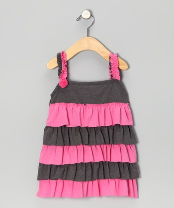 Hot Pink Ruffle Elisa Dress - Infant, Toddler & Girls