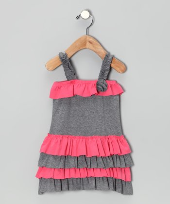 Coral Ruffle Melissa Dress - Infant, Toddler & Girls