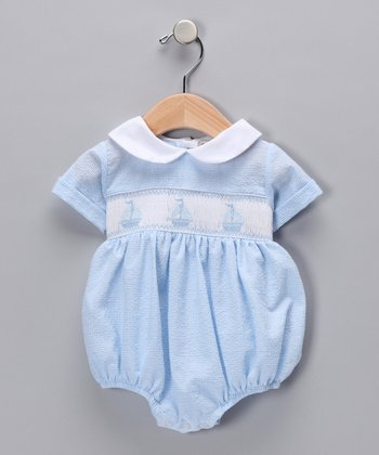 Blue David Bubble Bodysuit - Infant