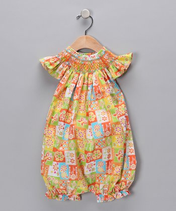 Orange Tania Bubble Romper - Infant