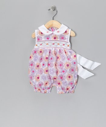 Purple Floral Sheila Romper - Infant
