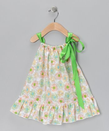 Green Floral Dress - Toddler