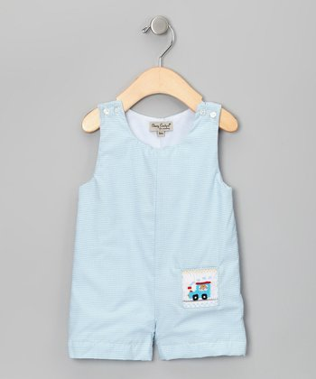 Blue Train Shortalls - Infant