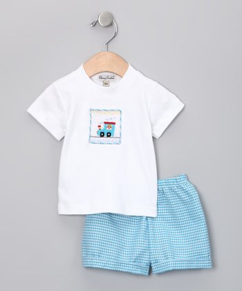 Blue Train Tee & Shorts - Infant