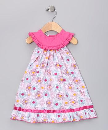 Pink Floral Sandra Yoke Dress - Infant, Toddler & Girls