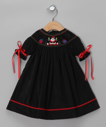 Black Santa Claus Bishop Dress - Infant & Toddler