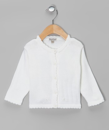 White Mercy Cardigan - Infant & Toddler
