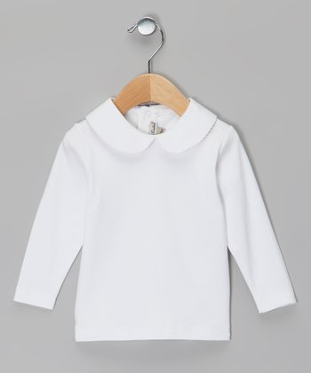 White Long-Sleeve Top - Infant
