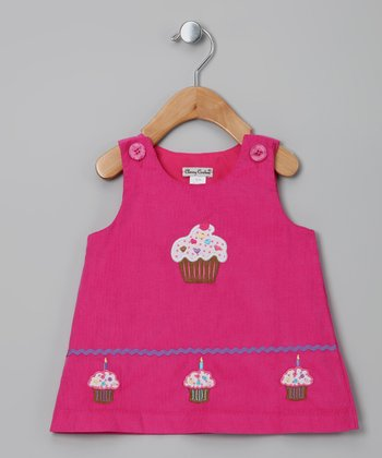 Pink Cupcake Corduroy Jumper - Infant & Toddler
