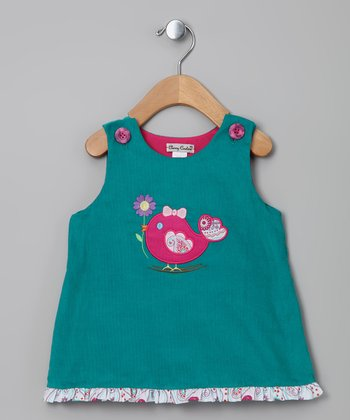 Jade & Pink Bird Jumper - Infant & Toddler