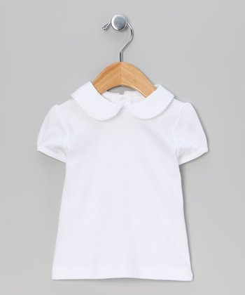 White Cap-Sleeve Top - Infant & Toddler